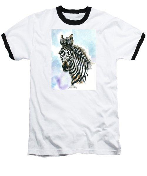 Zebra 1 Baseball T-Shirt