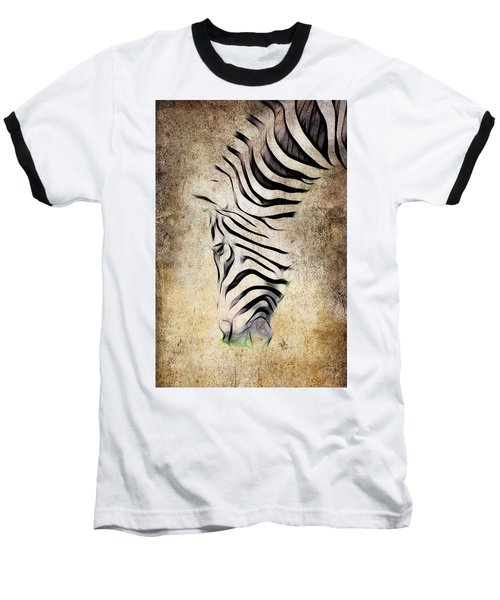 Zebra Fade Baseball T-Shirt by Steve McKinzie