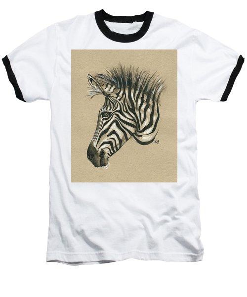 Zebra Profile Baseball T-Shirt