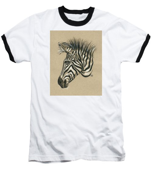 Zebra Profile Baseball T-Shirt