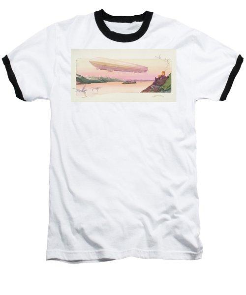 Zeppelin, Published Paris, 1914 Baseball T-Shirt