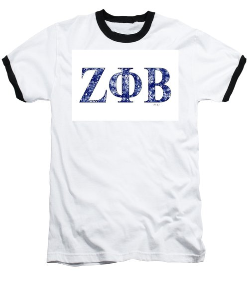 Zeta Phi Beta - White Baseball T-Shirt