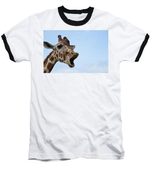 Zootography Giraffe Honking Baseball T-Shirt