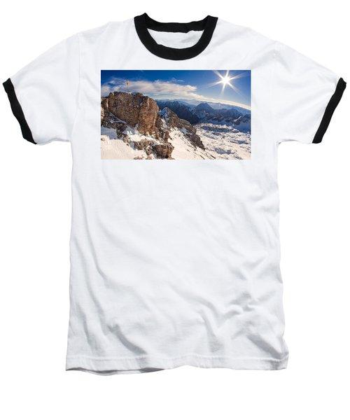 Zugspitze Summit Baseball T-Shirt