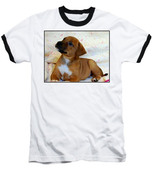 Baseball T-Shirt featuring the photograph   Take Me Home Please by Peggy Franz