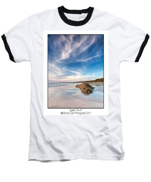 Welsh Coast - Porth Colmon Baseball T-Shirt by Beverly Cash
