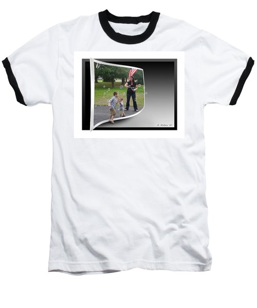 Baseball T-Shirt featuring the photograph Chasing Bubbles by Brian Wallace
