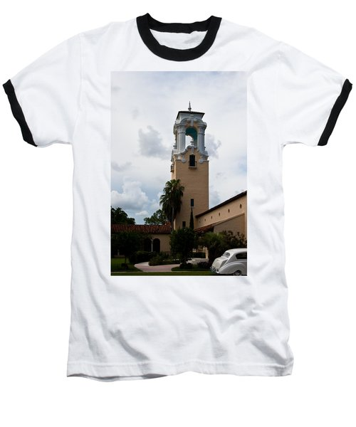 Baseball T-Shirt featuring the photograph Congregational Church Tower by Ed Gleichman