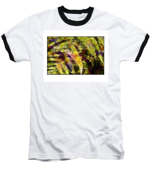 Baseball T-Shirt featuring the photograph Fern In Dappled Light by Judi Bagwell