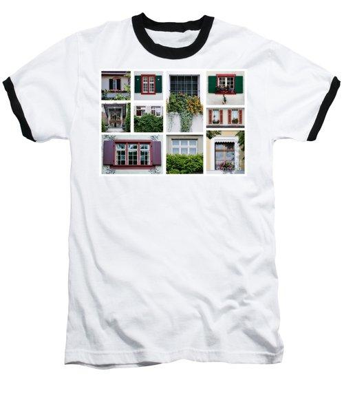 Swiss Windows Baseball T-Shirt