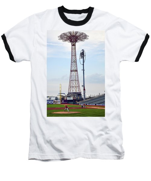 13 Year Old Pitching At Coney Island Cyclones Stadium Baseball T-Shirt