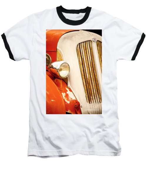 1940's Seagrave Fire Engine Baseball T-Shirt