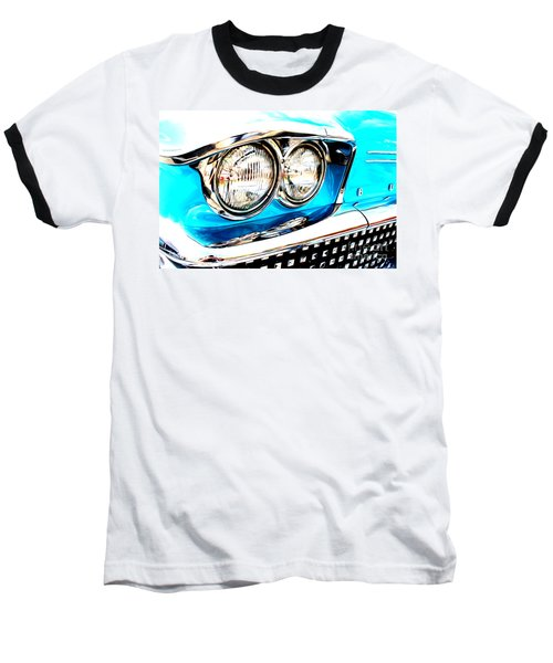 Baseball T-Shirt featuring the digital art 1958 Buick by Tony Cooper