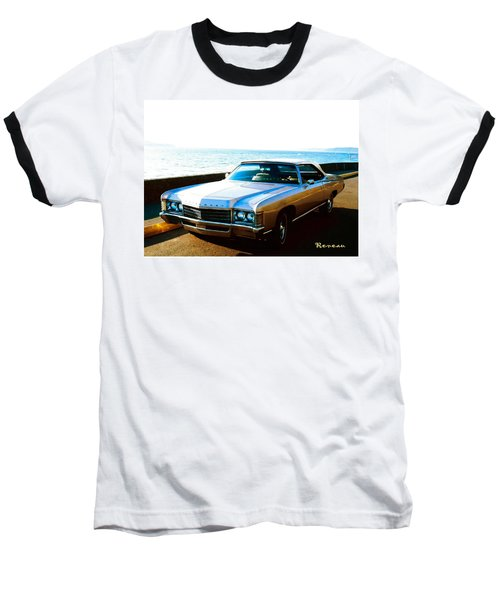 Baseball T-Shirt featuring the photograph 1971 Chevrolet Impala Convertible by Sadie Reneau