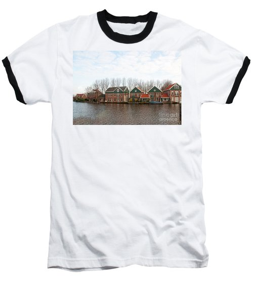 Baseball T-Shirt featuring the digital art Scenes From Amsterdam by Carol Ailles