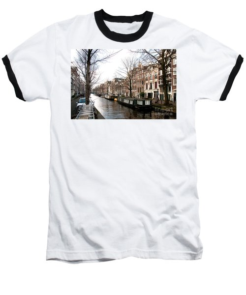 Baseball T-Shirt featuring the digital art City Scenes From Amsterdam by Carol Ailles