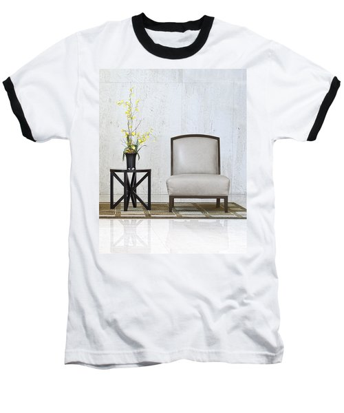 A Chair And A Table With A Plant  Baseball T-Shirt