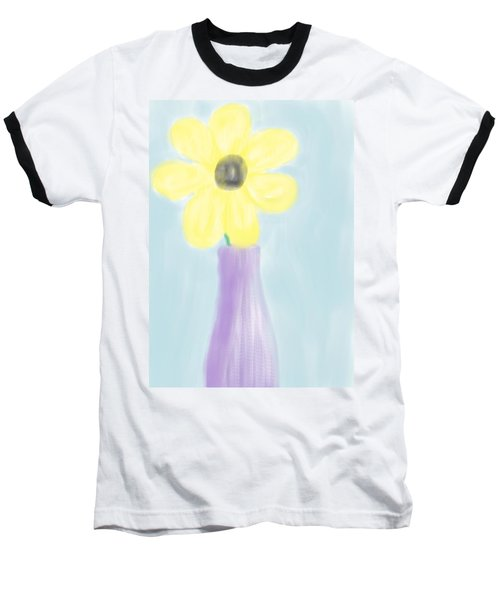 Baseball T-Shirt featuring the digital art A Flower For Mo by Heidi Smith