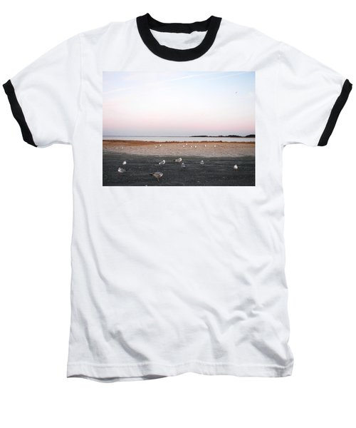 Baseball T-Shirt featuring the photograph A Gathering On Rehoboth Bay by Pamela Hyde Wilson