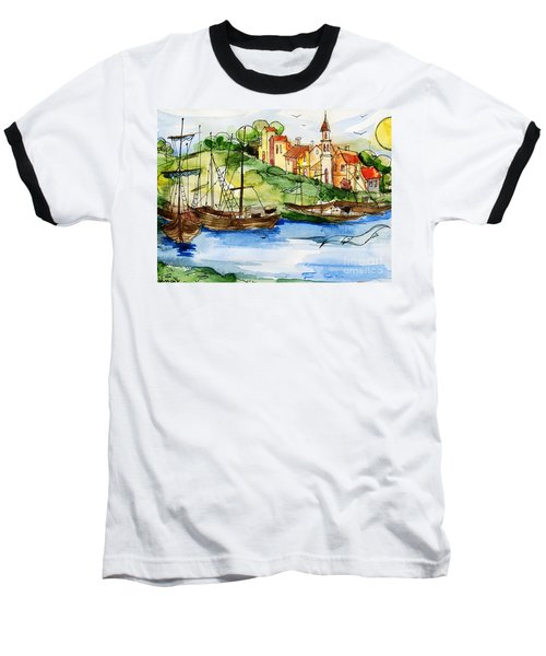 A Little Fisherman's Village Baseball T-Shirt