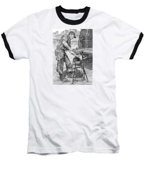 A Man And His Trade - Farrier Art Print Baseball T-Shirt
