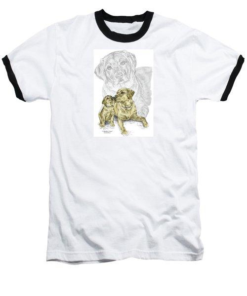 A Mothers Love - Labrador Dog Print Color Tinted Baseball T-Shirt