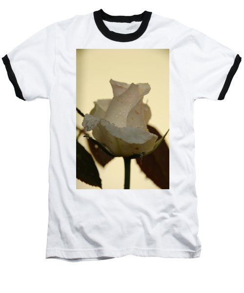 A Single White Rose Baseball T-Shirt