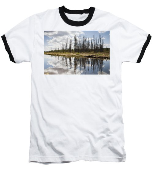 Baseball T-Shirt featuring the photograph A Tranquil River With A Reflection by Susan Dykstra