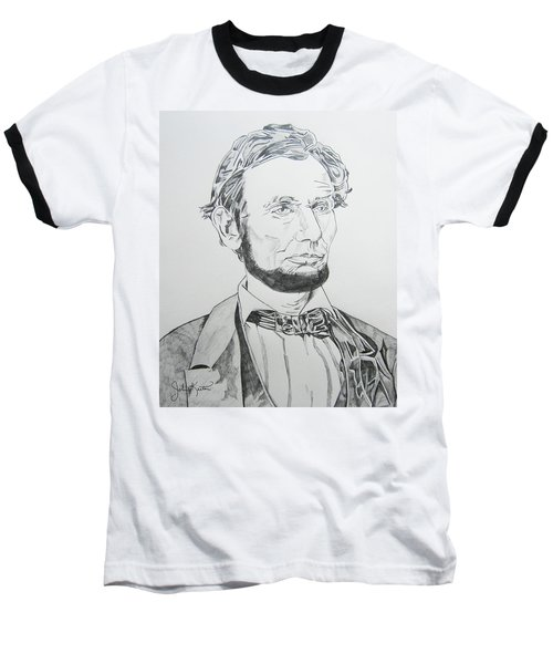 Abraham Lincoln Baseball T-Shirt by John Keaton