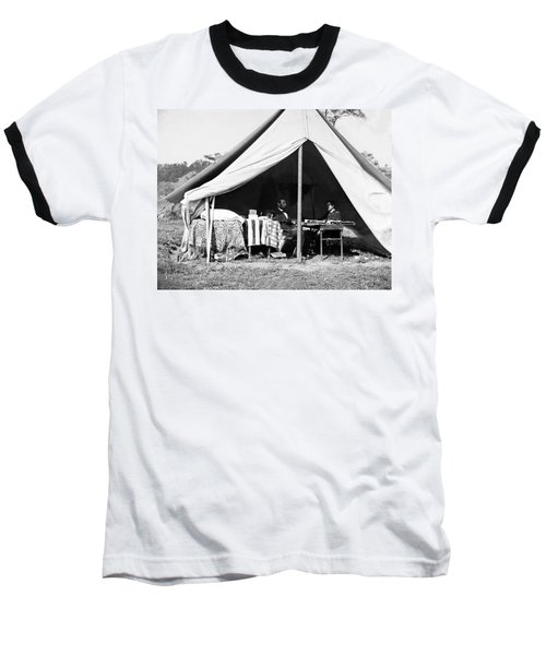 Baseball T-Shirt featuring the photograph Abraham Lincoln Meeting With General Mcclellan - Antietam - October 3 1862 by International  Images