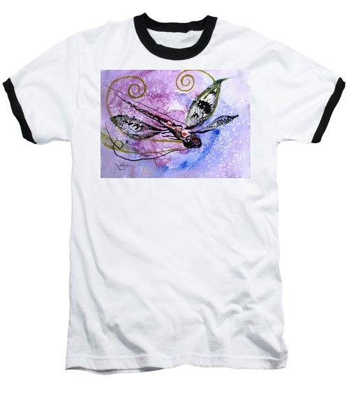 Abstract Dragonfly 6 Baseball T-Shirt