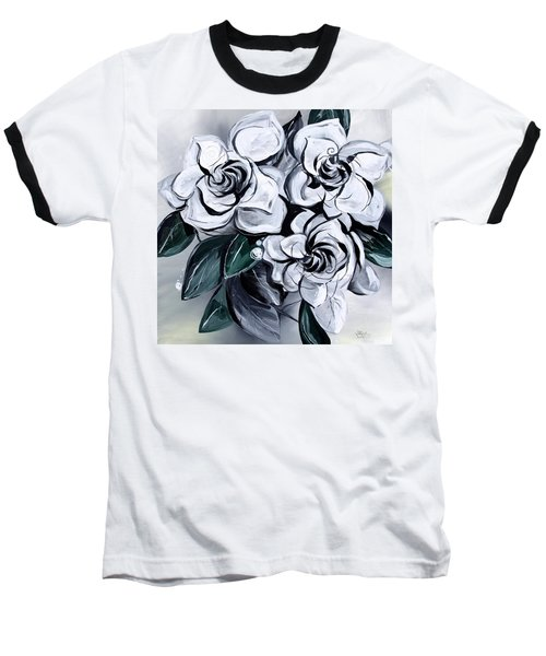 Abstract Gardenias Baseball T-Shirt