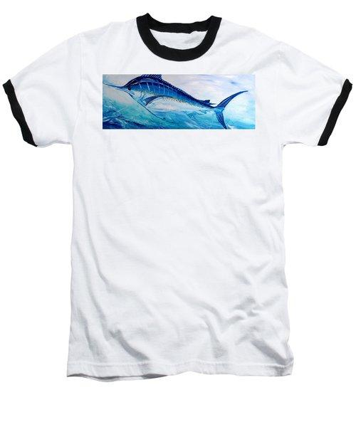 Abstract Marlin Baseball T-Shirt