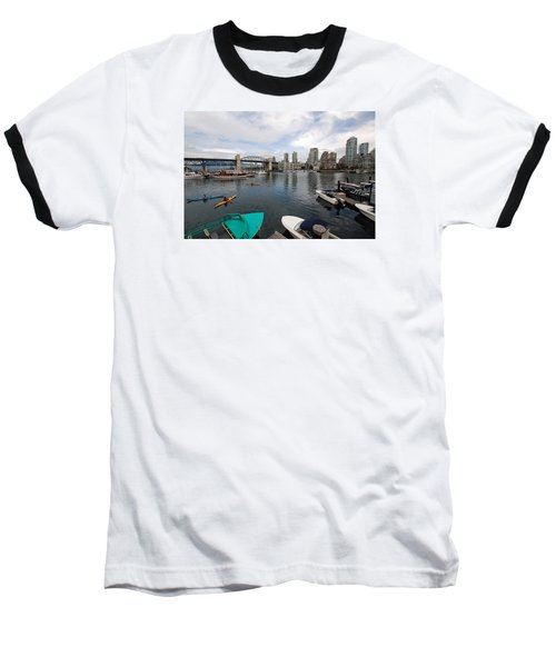 Baseball T-Shirt featuring the photograph Across False Creek by John Schneider