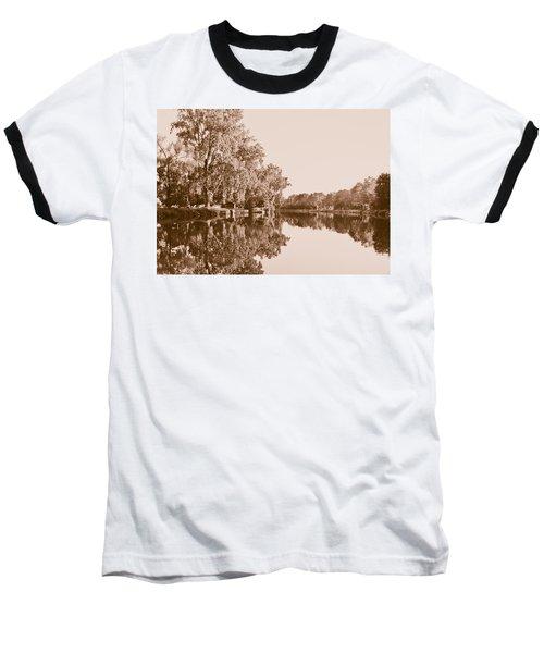 Baseball T-Shirt featuring the photograph Amber Reflection by Sara Frank
