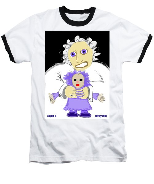 Asylum 3 Baseball T-Shirt
