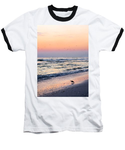 At Sunset Baseball T-Shirt by Angela Rath