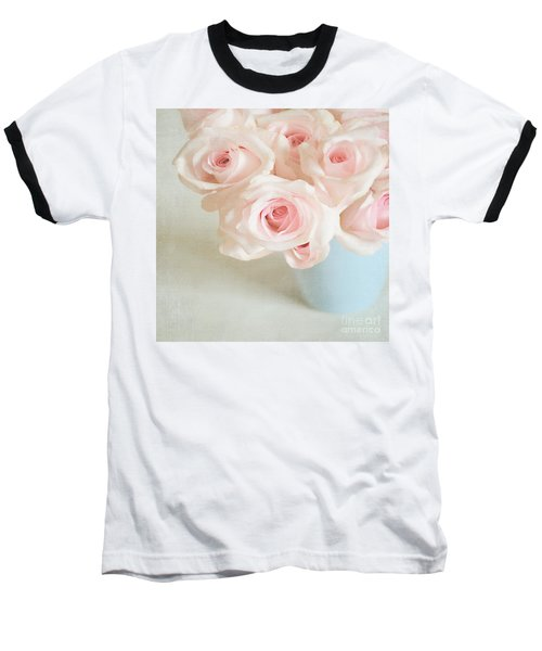 Baby Pink Roses Baseball T-Shirt by Lyn Randle