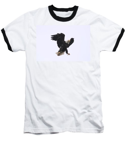 Baseball T-Shirt featuring the photograph Bald Eagle Tallons Open by Kym Backland