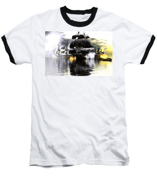 Battle Smoke Baseball T-Shirt by Claude McCoy