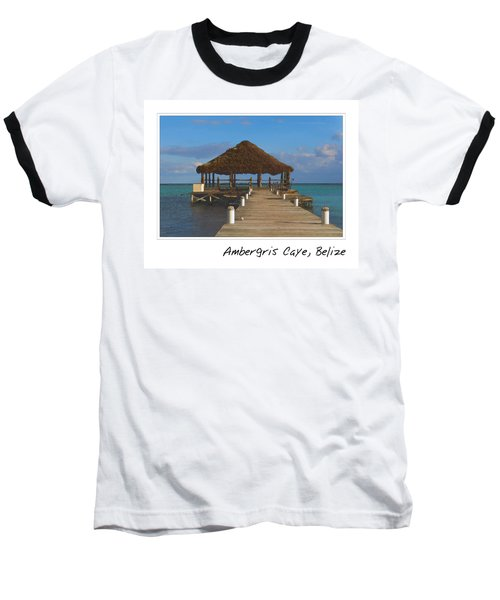 Beach Deck With Palapa Floating In The Water Baseball T-Shirt