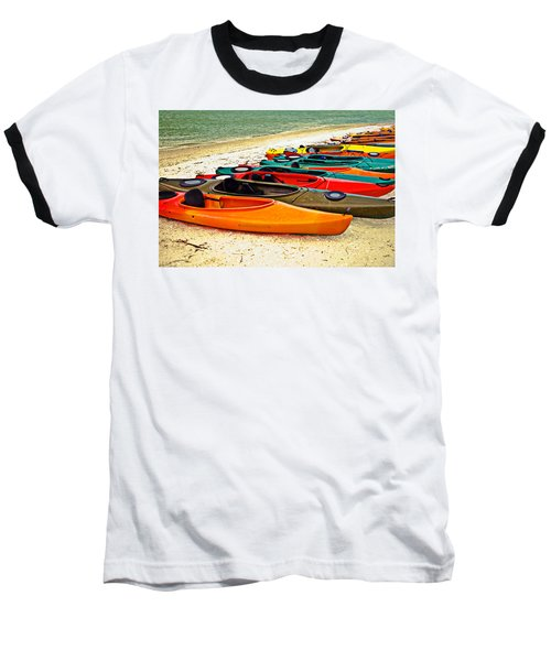 Beach Kayaks Baseball T-Shirt