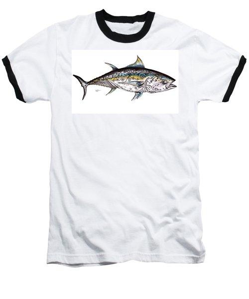 Beautiful Blue Fin Baseball T-Shirt