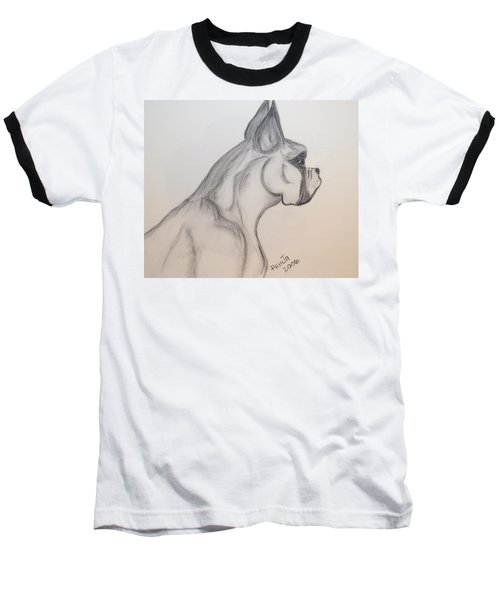 Baseball T-Shirt featuring the drawing Big Boxer by Maria Urso