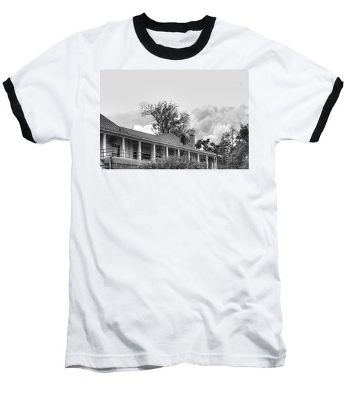 Baseball T-Shirt featuring the photograph Black And White Delaware Casino by Michael Frank Jr