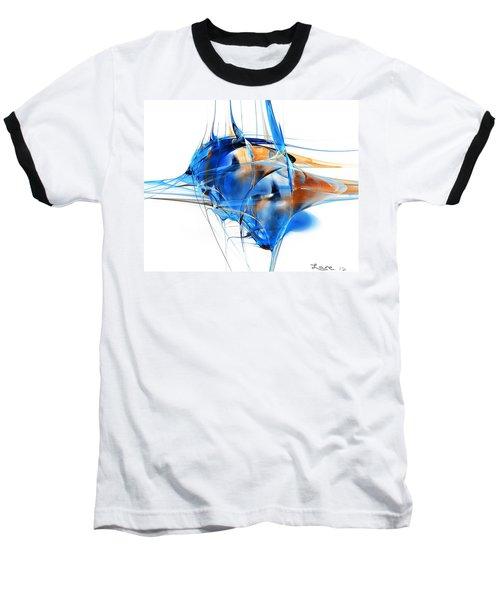 Blue Abstraction Baseball T-Shirt