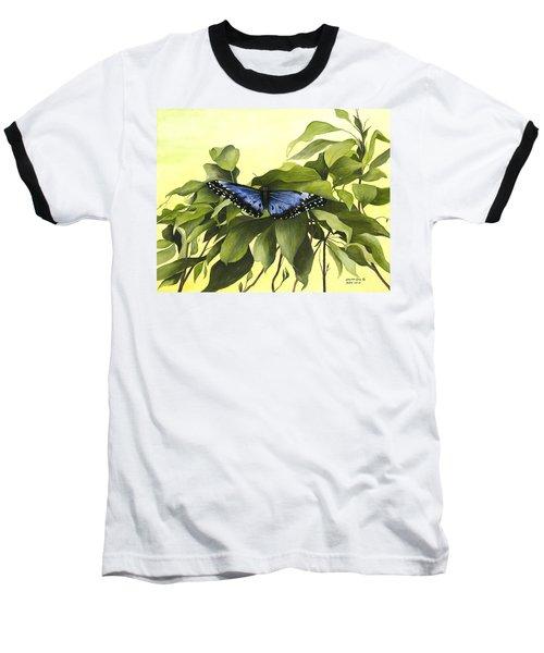 Blue Butterfly Of Branson Baseball T-Shirt
