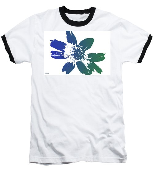 Baseball T-Shirt featuring the photograph Blue In Bloom by Lauren Radke
