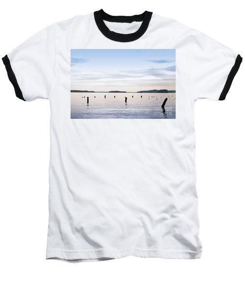 Baseball T-Shirt featuring the photograph Blue Lake Muskoka by Les Palenik