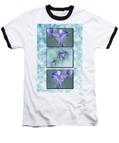 Baseball T-Shirt featuring the photograph Bluebell Triptych by Steve Purnell